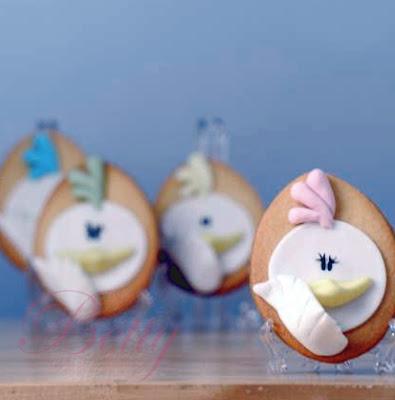 Küken Kekse zu Ostern