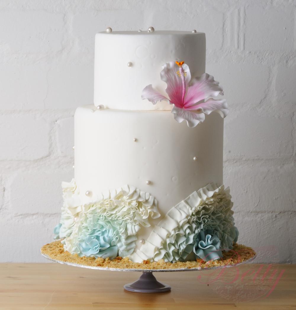 Hibiscus Hochzeitstorte