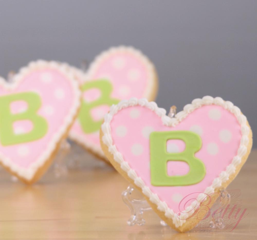 Herz Kekse mit Monogram