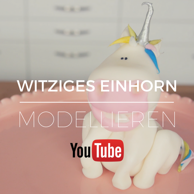 witziges einhorn aus fondant modellieren betty s sugar. Black Bedroom Furniture Sets. Home Design Ideas