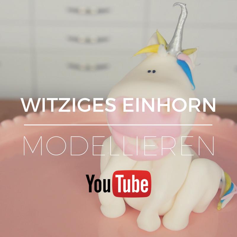 Witziges Einhorn modellieren - ganz einfach mit der 1-2-3 Methode - Jetzt auf YouTube