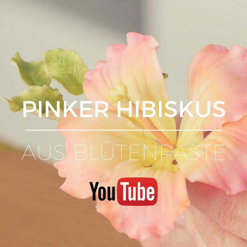Pinker Hibiskus aus Blütenpaste modellieren lernst du auf meinem YouTube Kanal