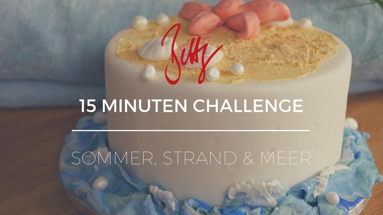 15 Minuten Challenge auf YouTube - Sommer, Strand & Meer - Seestern, Muscheln und Wellen als Tortendeko