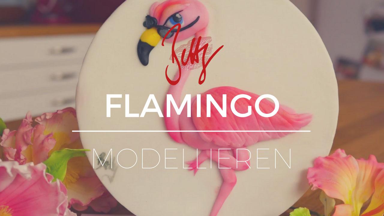 YouTube Folge - Flamingo modellieren mit der Relieftechnik auf Betty´s Sugar Dreams