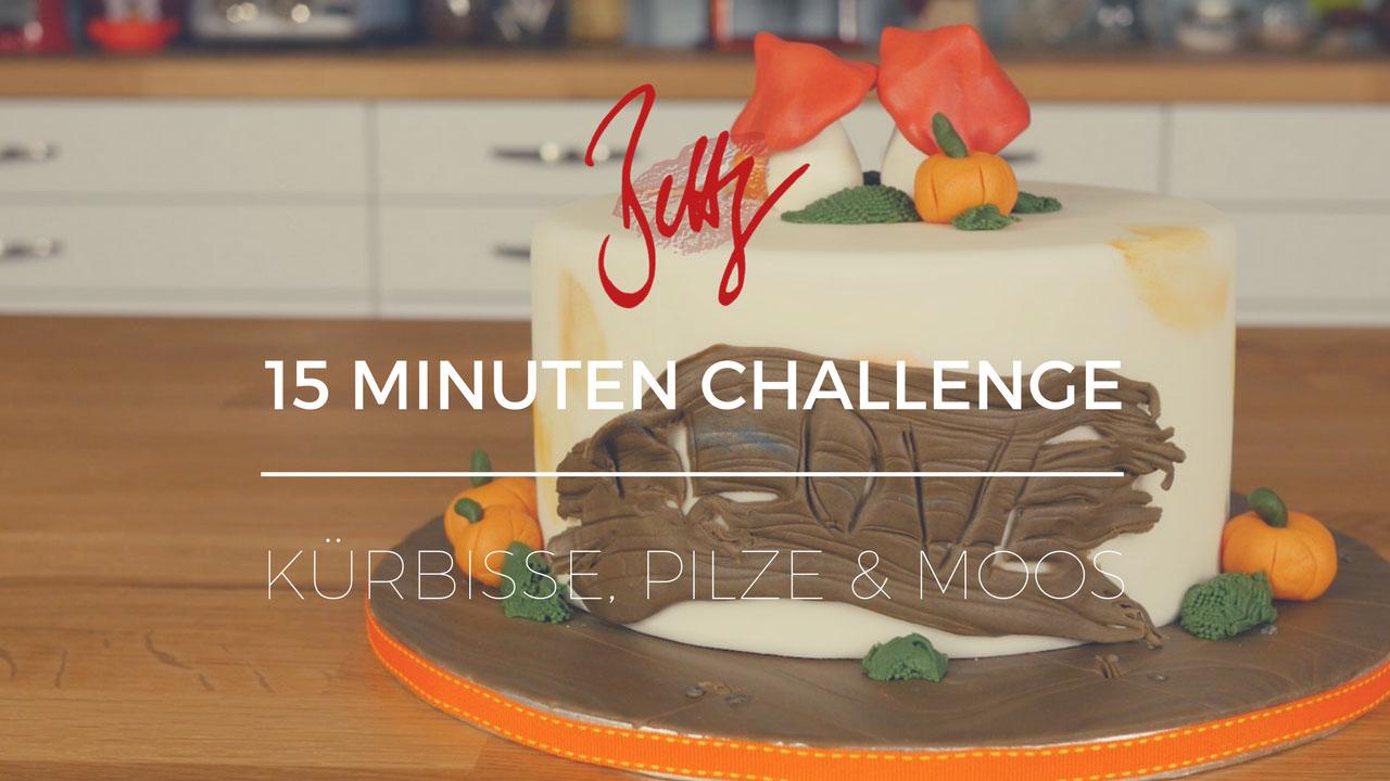 15 Minuten Challenge auf YouTube - Herbsttorte mit Kürbissen, Pilzen und Moos