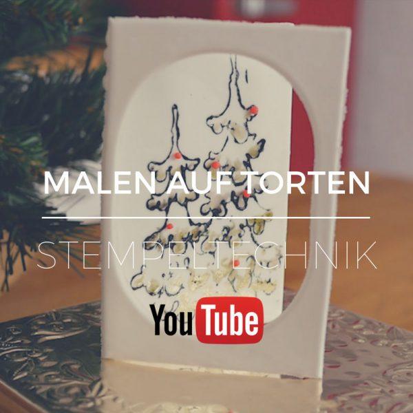 Weihnachtskarten Malen.Q Yt Malen Auf Torten Stempeltechnik Weihnachtskarte