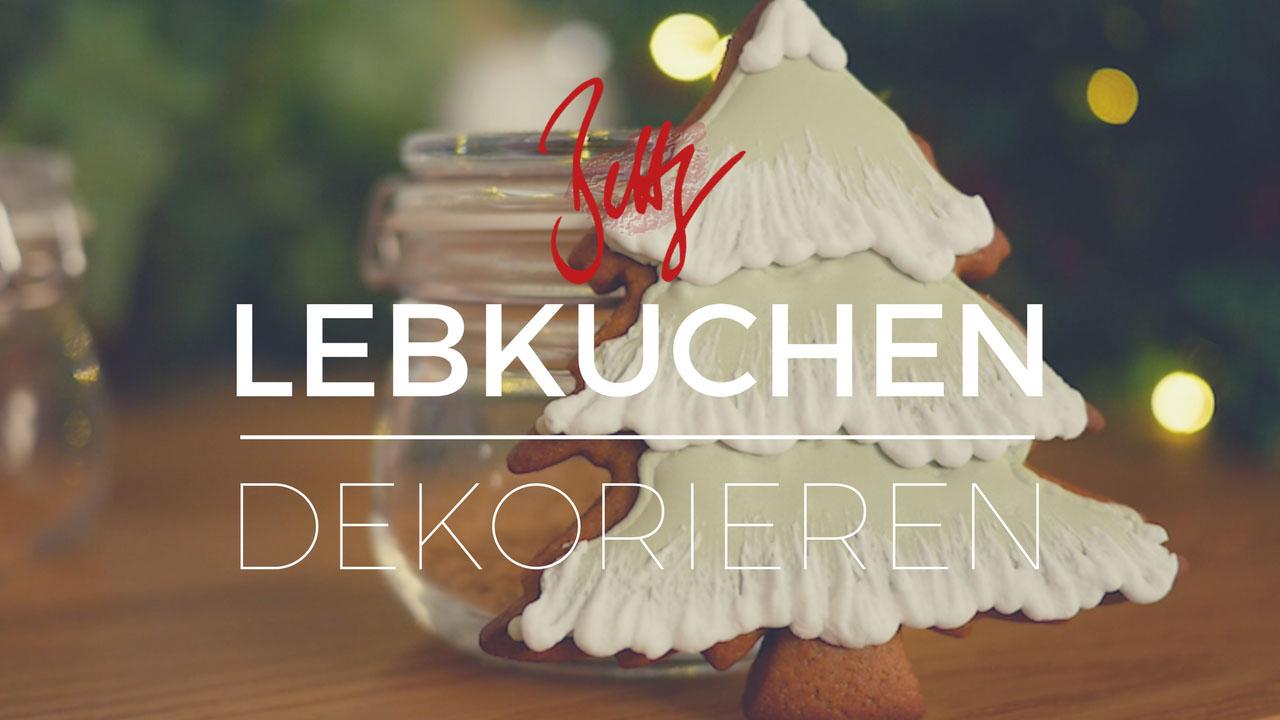 Lebkuchen dekorieren - Runout Technik mit Eiweissspritzglasur