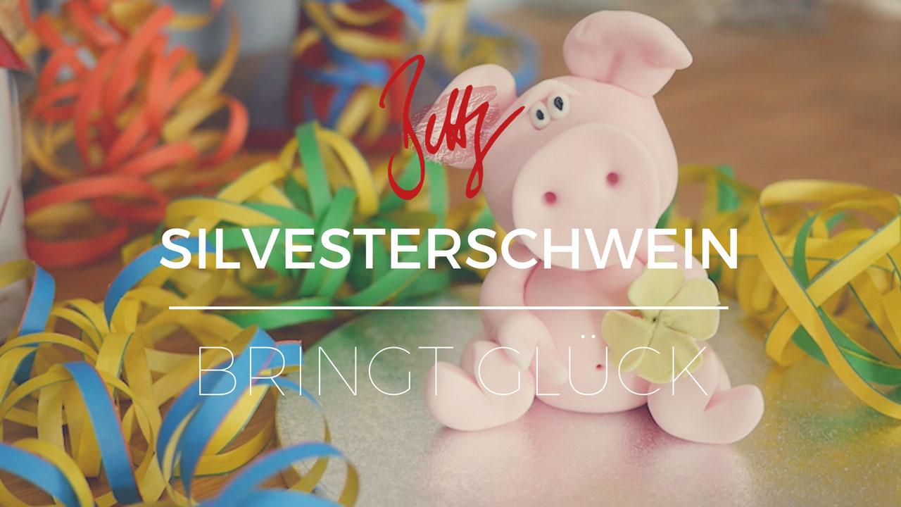 Silvesterschwein bringt Glück - Glücksschwein nach 1-2-3 Methode by Bettys Sugar Dreams