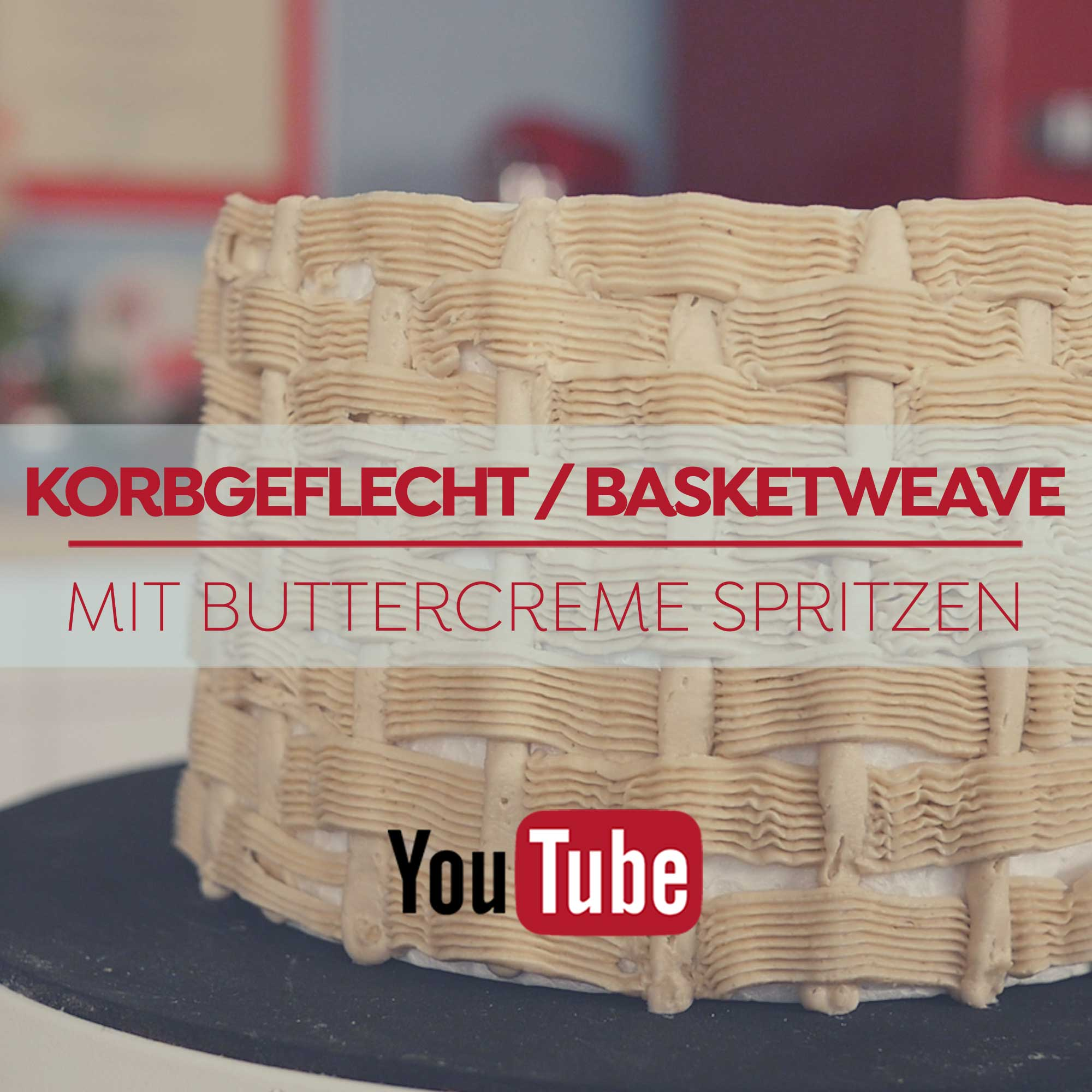 Korbgeflecht / Basketweave mit Buttercreme spritzen