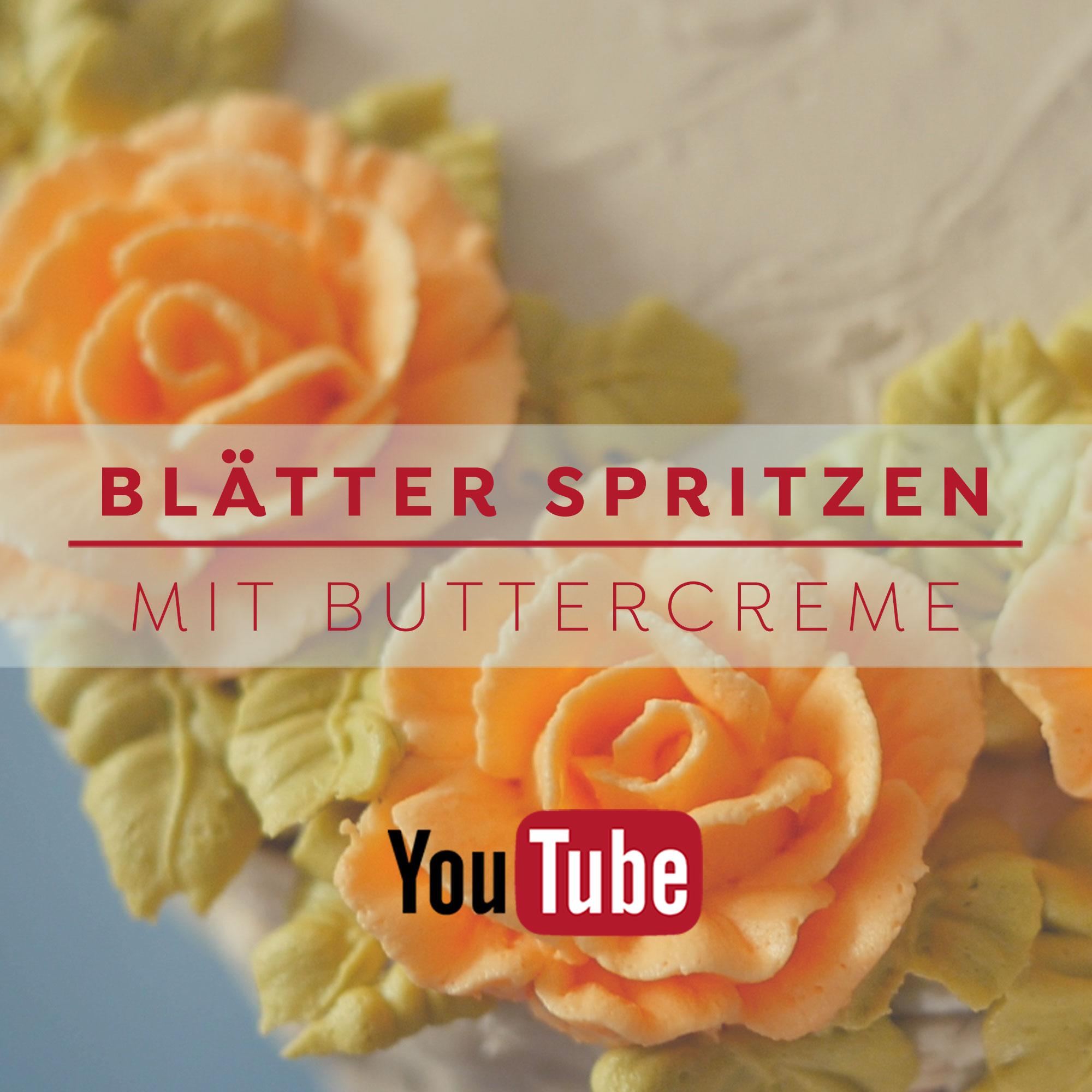 Blätter spritzen mit Buttercreme