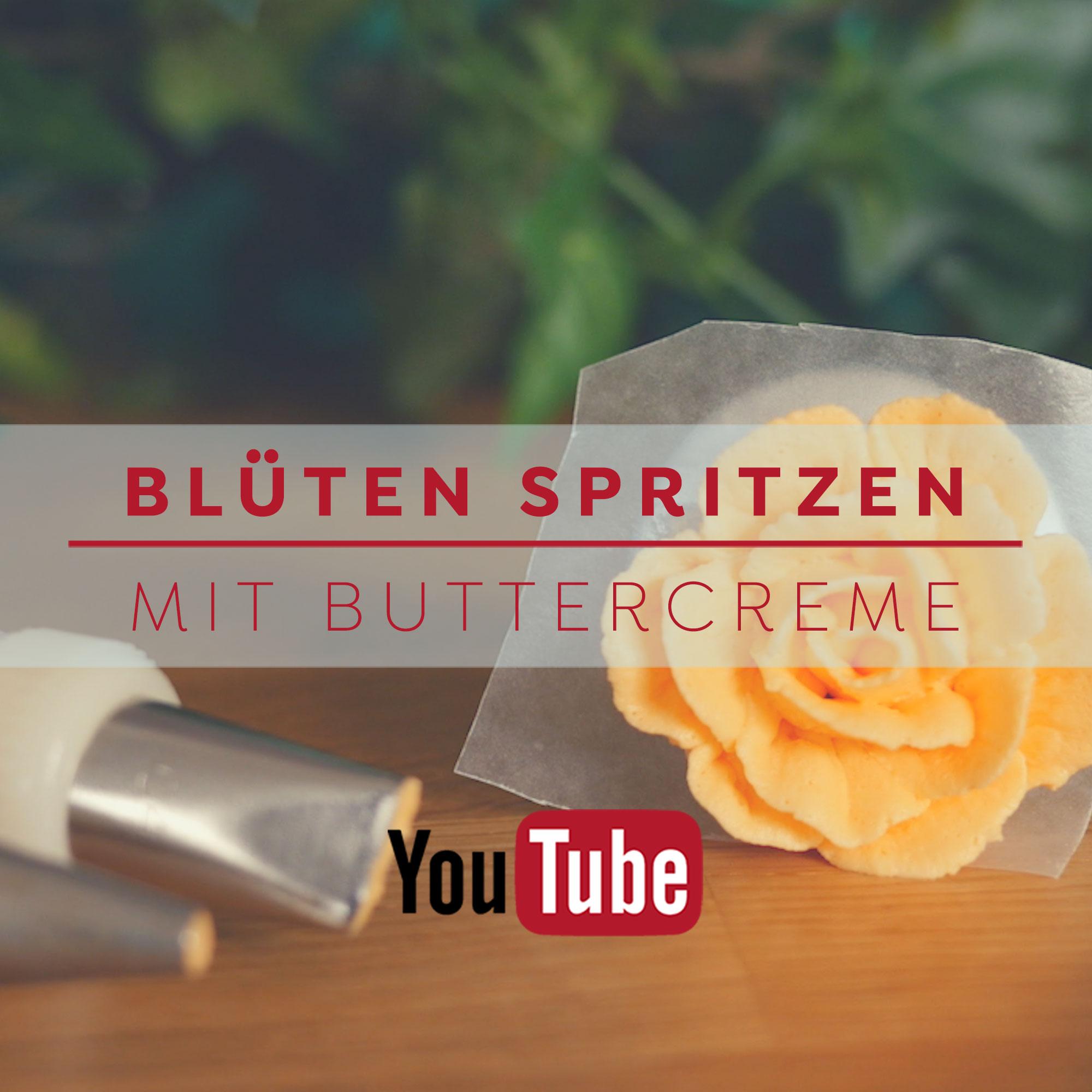 Blüten spritzen mit Buttercreme